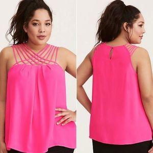 TORRID | neon pink Strappy tank top blouse